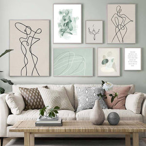 Neutral Tones Figure Lines Wall Art Prints from Gallery Wallrus | Eclectic Wall Art & Decor with Worldwide Shipping