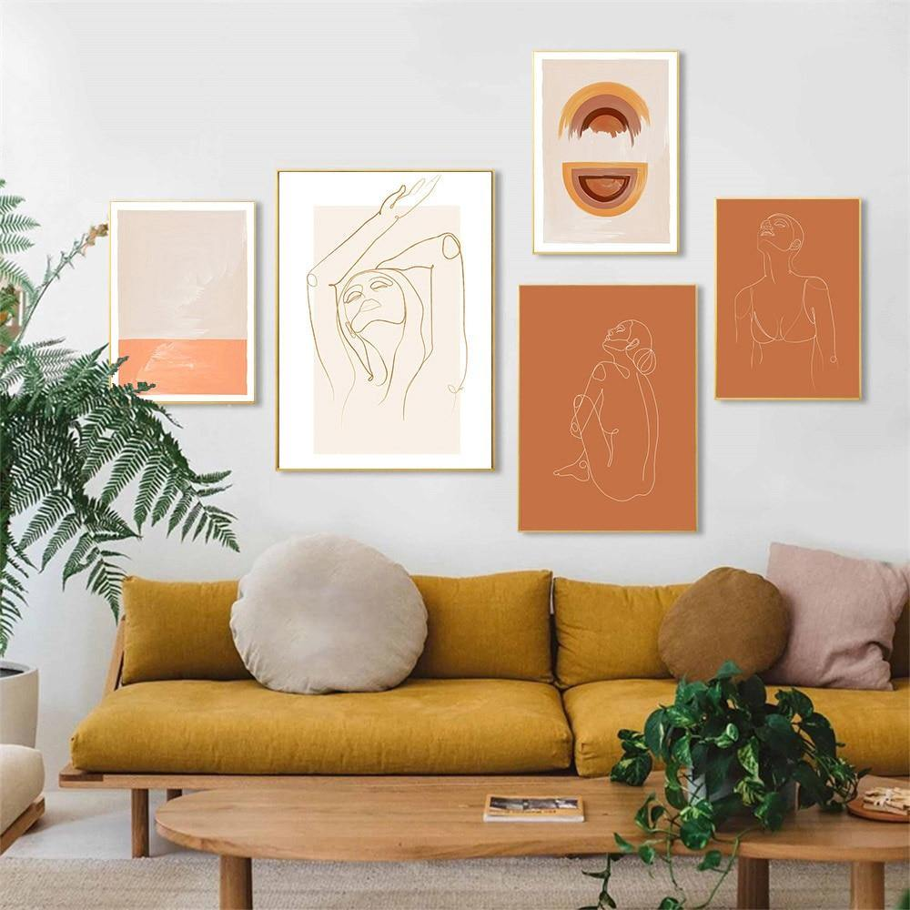 Burn Orange Boho Abstract Gallery Art Prints from Gallery Wallrus | Eclectic Wall Art & Decor with Worldwide Shipping