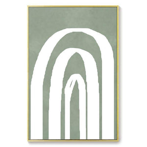 Abstract Line Pastel Army Green Tones Gallery Wall Prints from Gallery Wallrus | Eclectic Wall Art & Decor with Worldwide Shipping