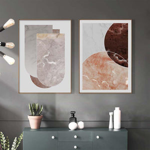 Abstract Geometric Marble Wall Art Duo from Gallery Wallrus | Eclectic Wall Art & Decor with Worldwide Shipping