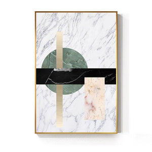 Abstract Geometric Marble Gallery Wall Trio from Gallery Wallrus | Eclectic Wall Art & Decor with Worldwide Shipping