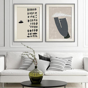 Abstract Minimalist Gray Tones Art Duo Pictures from Gallery Wallrus | Eclectic Wall Art & Decor with Worldwide Shipping