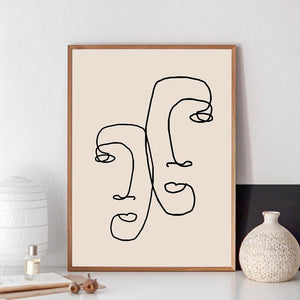 Minimalist Line Drawings Art Pictures from Gallery Wallrus | Eclectic Wall Art & Decor with Worldwide Shipping