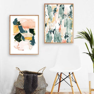 Abstract Pastel Watercolor Wall Art Paintings from Gallery Wallrus | Eclectic Wall Art & Decor with Worldwide Shipping