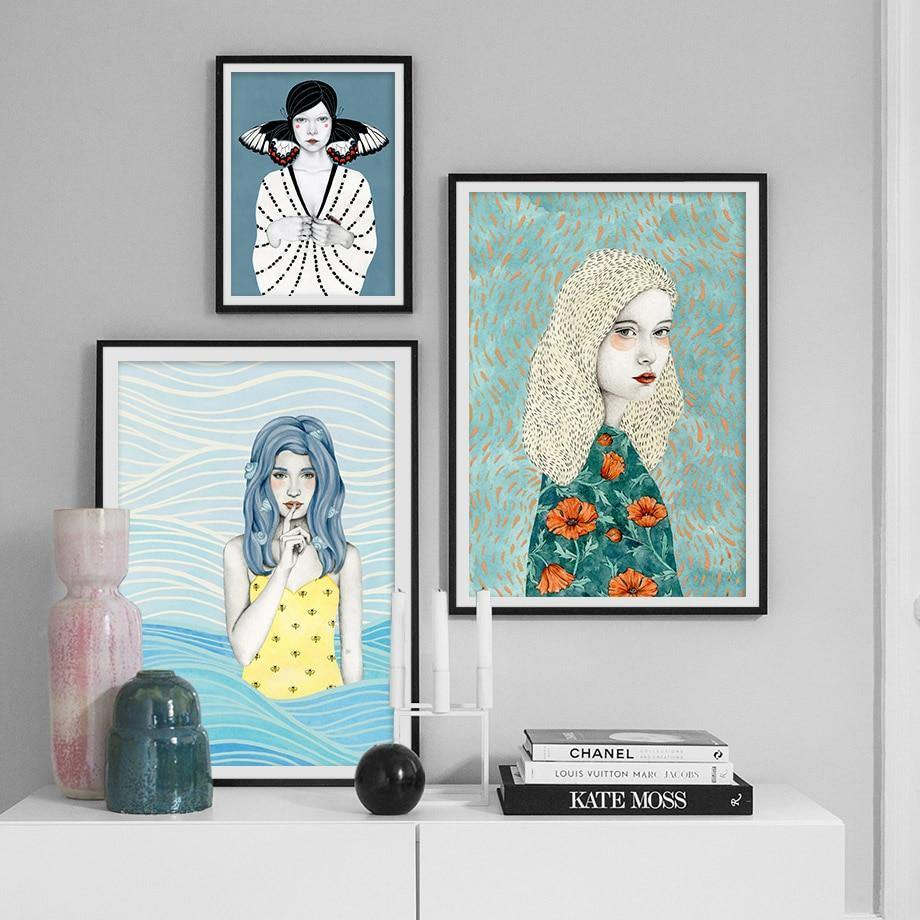 Bohemian Girl Gallery Wall Art Prints from Gallery Wallrus | Eclectic Wall Art & Decor with Worldwide Shipping