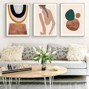 Abstract Brown and Copper Tones Gallery Wall Art Pictures from Gallery Wallrus | Eclectic Wall Art & Decor with Worldwide Shipping