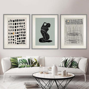 Minimalist Black Abstract Gallery Wall Trio from Gallery Wallrus | Eclectic Wall Art & Decor with Worldwide Shipping