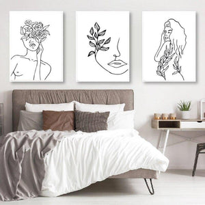 Minimalist Abstract Drawing Lines Wall Art Pictures from Gallery Wallrus | Eclectic Wall Art & Decor with Worldwide Shipping