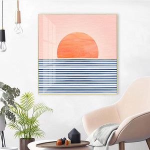 Cool Abstract Sunrise Art Print Picture from Gallery Wallrus | Eclectic Wall Art & Decor with Worldwide Shipping