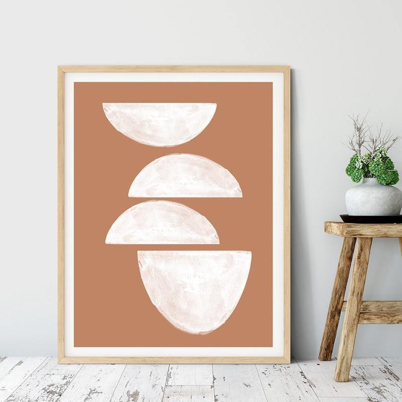Abstract Terracotta Art Picture from Gallery Wallrus | Eclectic Wall Art & Decor with Worldwide Shipping