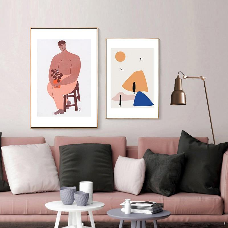 The Man & Woman Illustration by Matisse Artworks from Gallery Wallrus | Eclectic Wall Art & Decor with Worldwide Shipping