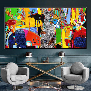 Multicolored Abstract Animal Wall Art Picture from Gallery Wallrus | Eclectic Wall Art & Decor with Worldwide Shipping