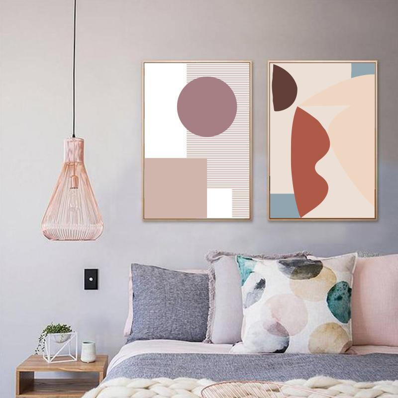 Abstract Geometric Pinky Art Pictures from Gallery Wallrus | Eclectic Wall Art & Decor with Worldwide Shipping