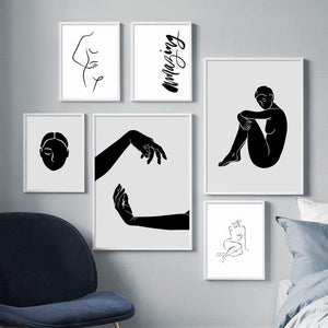 Abstract Black & White Minimalist Artwork Paintings from Gallery Wallrus | Eclectic Wall Art & Decor with Worldwide Shipping
