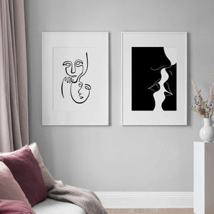 Abstract Black & White Wall Art Paintings from Gallery Wallrus | Eclectic Wall Art & Decor with Worldwide Shipping