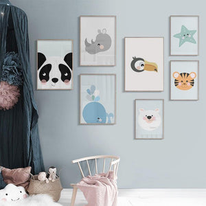 Cute Children's Bedroom Animal Wall Art Gallery Wall Set 2 from Gallery Wallrus | Eclectic Wall Art & Decor with Worldwide Shipping