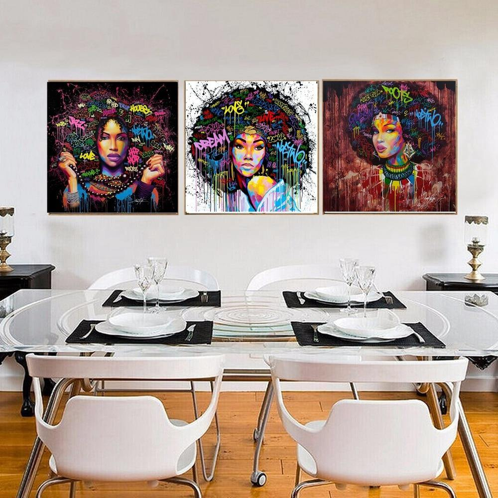 Abstract Afro Women Wall Gallery Paintings from Gallery Wallrus | Eclectic Wall Art & Decor with Worldwide Shipping
