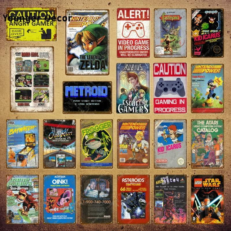 Retro Video Games Gallery Wall Art Signs Mix & Match from Gallery Wallrus | Eclectic Wall Art & Decor with Worldwide Shipping