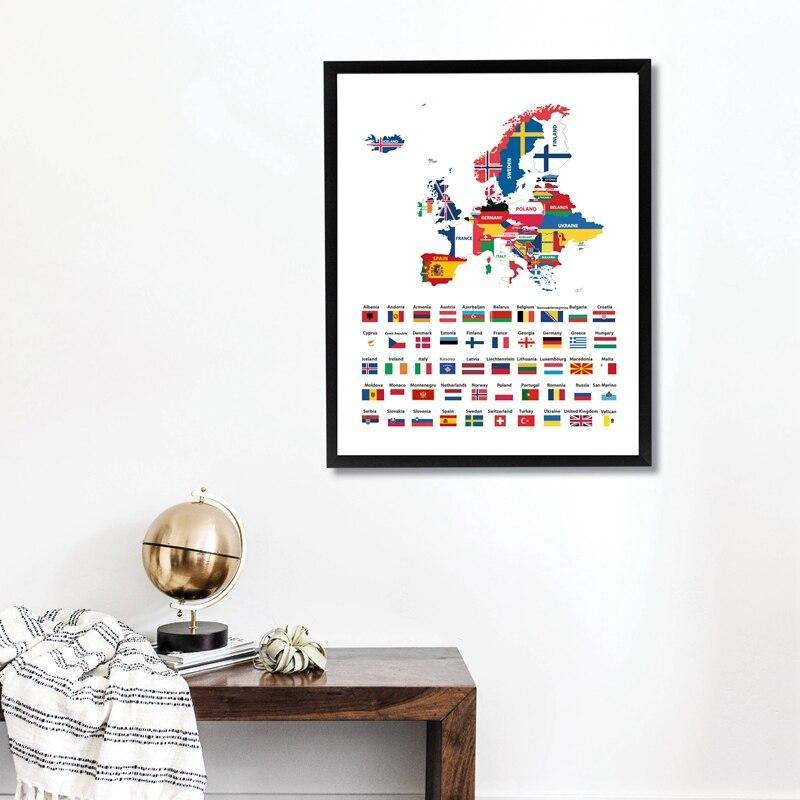 European Flag Original Artwork Print from Gallery Wallrus | Eclectic Wall Art & Decor with Worldwide Shipping