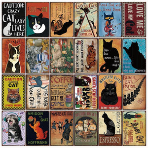 Fun Vintage Cat Gallery Wall Art Signs Mix & Match from Gallery Wallrus | Eclectic Wall Art & Decor with Worldwide Shipping