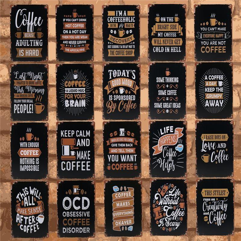 Blackboard Cafe Signage Gallery Wall Decor Mix & Match from Gallery Wallrus | Eclectic Wall Art & Decor with Worldwide Shipping