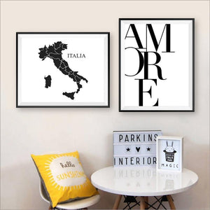 Amore & Amore Minimalist Black & White Art Print Duo from Gallery Wallrus | Eclectic Wall Art & Decor with Worldwide Shipping