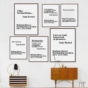 Andy Warhol Life Quotes Wall Gallery Art Prints from Gallery Wallrus | Eclectic Wall Art & Decor with Worldwide Shipping