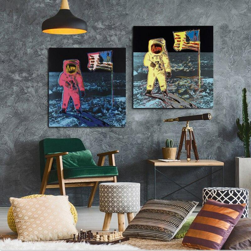 Oil Painting Space Planet Astronaut by Andy Warhol Artwork from Gallery Wallrus | Eclectic Wall Art & Decor with Worldwide Shipping