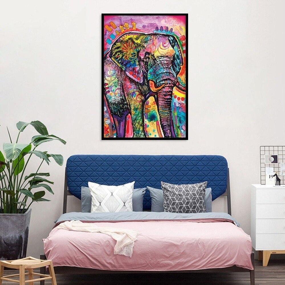 Funky African Elephant Artwork from Gallery Wallrus | Eclectic Wall Art & Decor with Worldwide Shipping