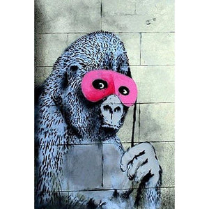 Banksy Pink Masked Gorilla Art Print from Gallery Wallrus | Eclectic Wall Art & Decor with Worldwide Shipping