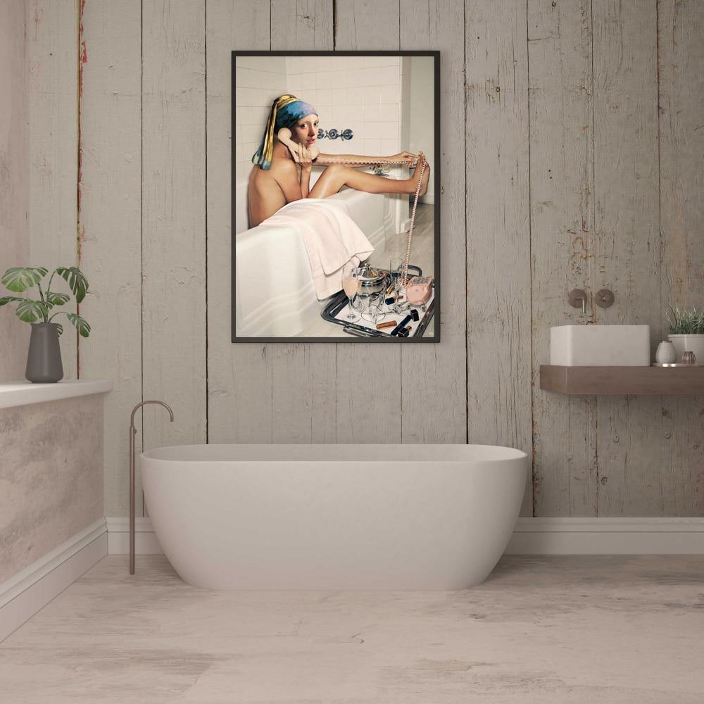 Cool Bathroom Phone Conversation Wall Art Picture