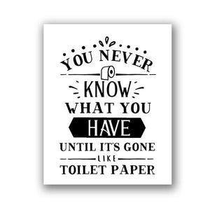 Funny Bathroom Typography Quotes Gallery Wall Art Prints from Gallery Wallrus | Eclectic Wall Art & Decor with Worldwide Shipping