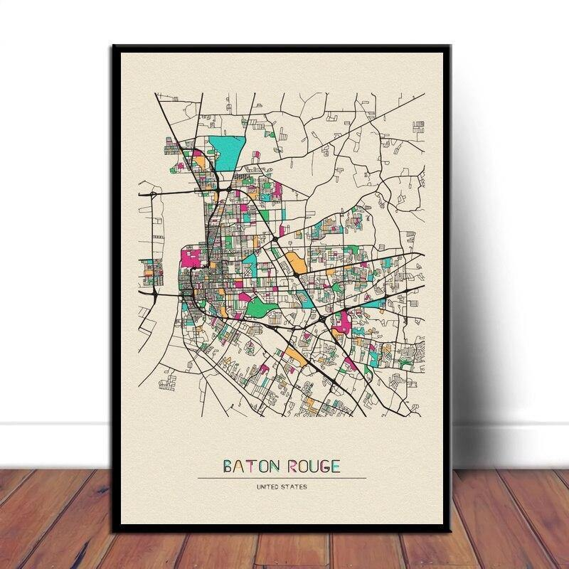 Colorful City Map Wall Art Prints Beijing, Belfast+ More from Gallery Wallrus | Eclectic Wall Art & Decor with Worldwide Shipping