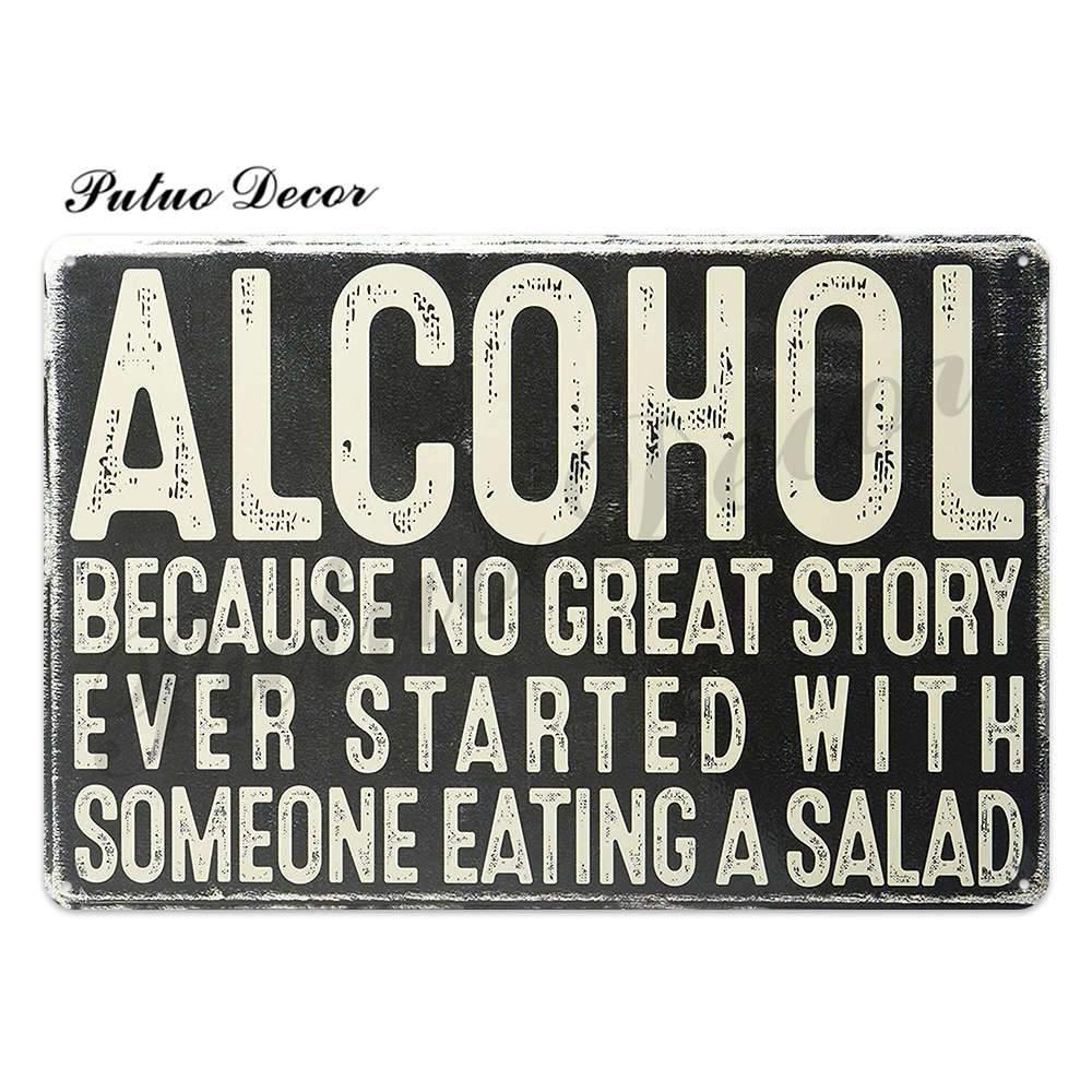 Bar Drinks Metal Wall signs from Gallery Wallrus | Eclectic Wall Art & Decor with Worldwide Shipping