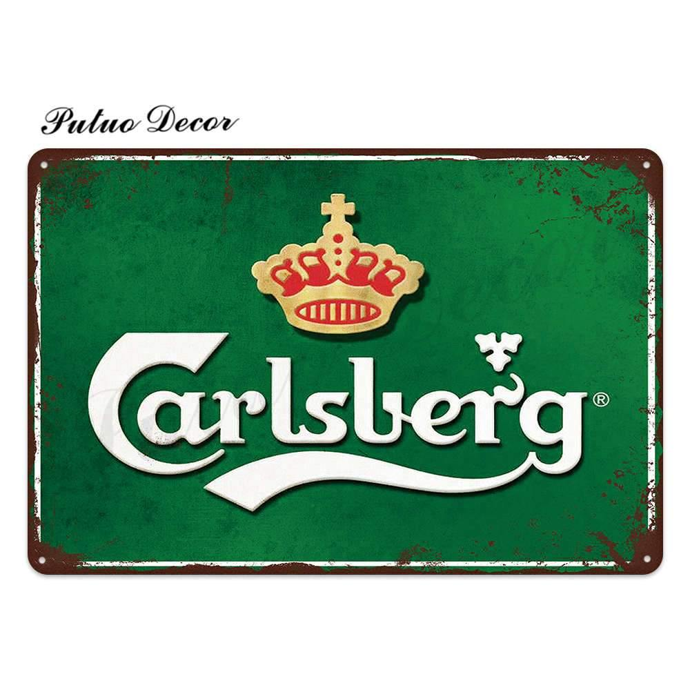 Lager Brand Metal Wall Signs from Gallery Wallrus | Eclectic Wall Art & Decor with Worldwide Shipping