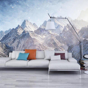 Majestic Kunlun Mountains Snow Art Wall Mural from Gallery Wallrus | Eclectic Wall Art & Decor with Worldwide Shipping
