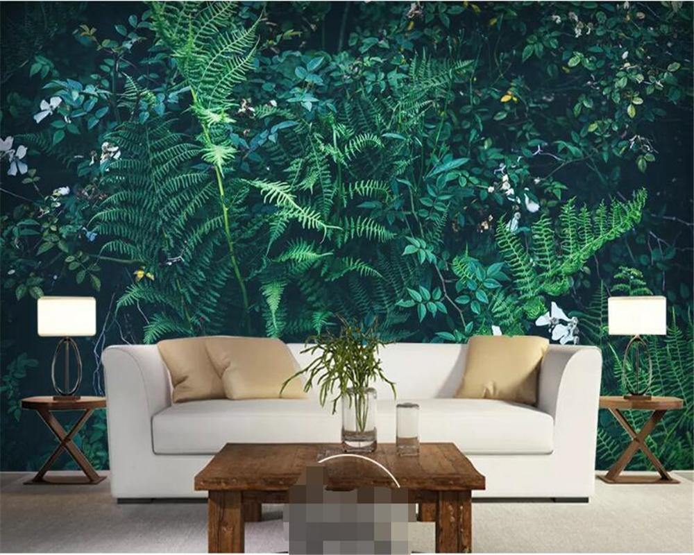 Dark Green Vine Plants Wall Mural from Gallery Wallrus | Eclectic Wall Art & Decor with Worldwide Shipping