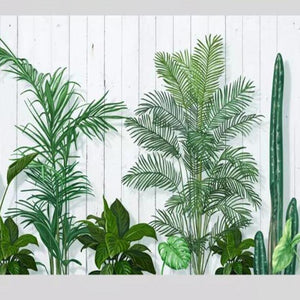 Fresh Green Leaves Wall Mural from Gallery Wallrus | Eclectic Wall Art & Decor with Worldwide Shipping