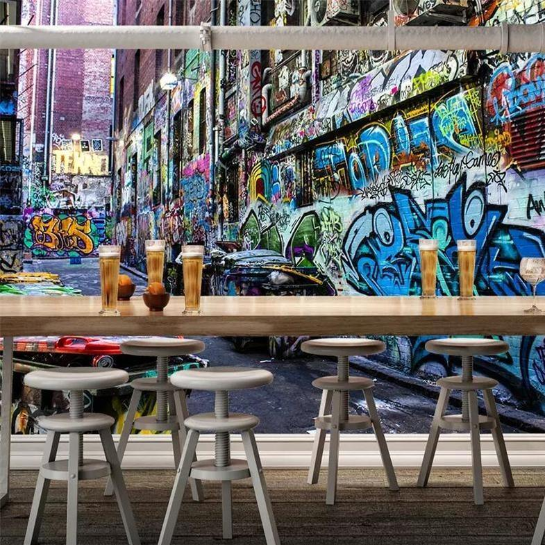 European and American Street Art Style 3D Graffiti Wall Mural from Gallery Wallrus | Eclectic Wall Art & Decor with Worldwide Shipping