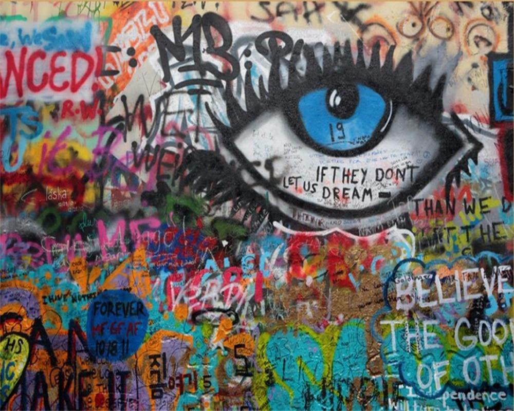 Graffiti Big One Eye Art Wall Mural from Gallery Wallrus | Eclectic Wall Art & Decor with Worldwide Shipping