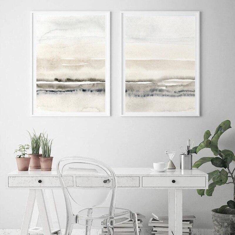 Minimalist Abstract Landscape Art Print Set from Gallery Wallrus | Eclectic Wall Art & Decor with Worldwide Shipping