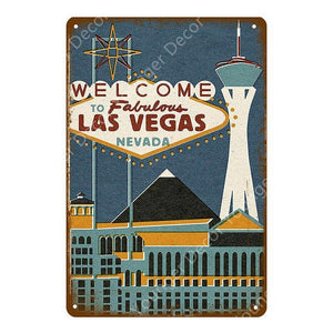 Las Vegas Signs Wall Art Metal Plaques from Gallery Wallrus | Eclectic Wall Art & Decor with Worldwide Shipping