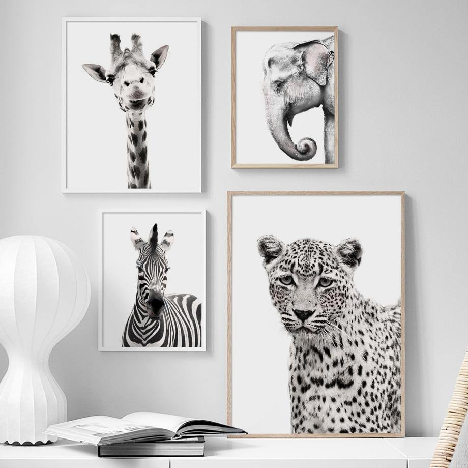 Black & White Zoo Animals Gallery Wall Art from Gallery Wallrus | Eclectic Wall Art & Decor with Worldwide Shipping