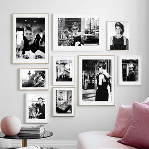 Black & White Vintage Hollywood Stars Gallery Wall from Gallery Wallrus | Eclectic Wall Art & Decor with Worldwide Shipping