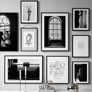 Striking Black & White Gallery Wall Art Prints Mix & Match from Gallery Wallrus | Eclectic Wall Art & Decor with Worldwide Shipping