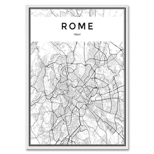 Cool Black & White City Maps:  New York, Tokyo, Paris + More from Gallery Wallrus | Eclectic Wall Art & Decor with Worldwide Shipping