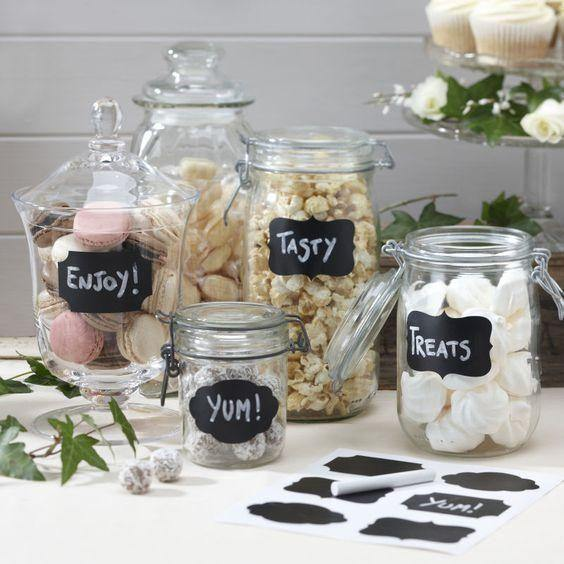 Jar Organizer Blackboard Labels from Gallery Wallrus | Eclectic Wall Art & Decor with Worldwide Shipping