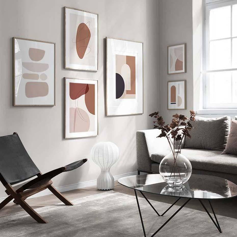 Blush Pink Stone Abstract Artwork Gallery Wall Prints Mix & Match from Gallery Wallrus | Eclectic Wall Art & Decor with Worldwide Shipping