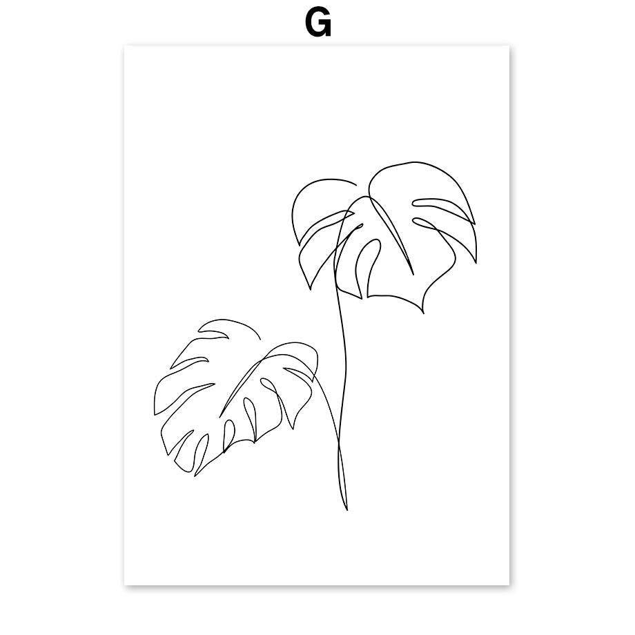 Boat Forest Agave Abstract Monstera Line Art Gallery Wall Prints from Gallery Wallrus | Eclectic Wall Art & Decor with Worldwide Shipping