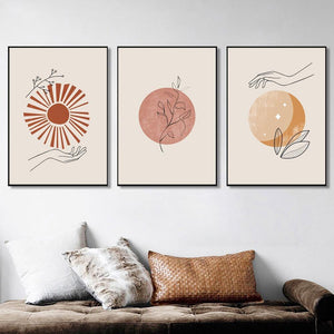 Bohemian Celestial Hand Line Gallery Wall from Gallery Wallrus | Eclectic Wall Art & Decor with Worldwide Shipping